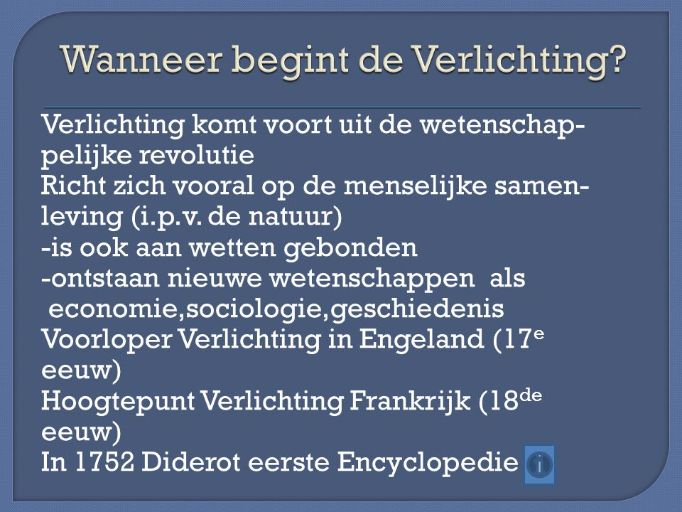 De Verlichting. - ppt download