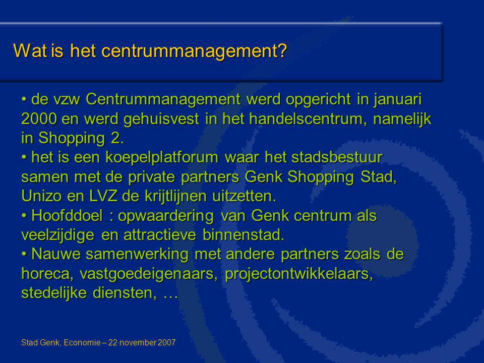 Wat is het centrummanagement
