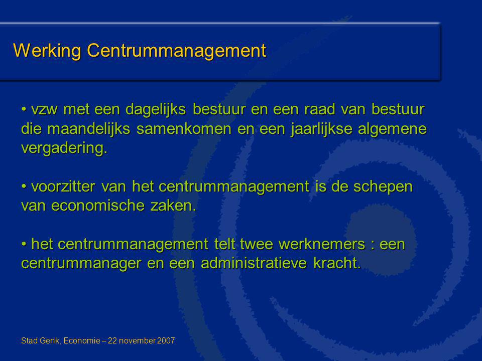 Werking Centrummanagement