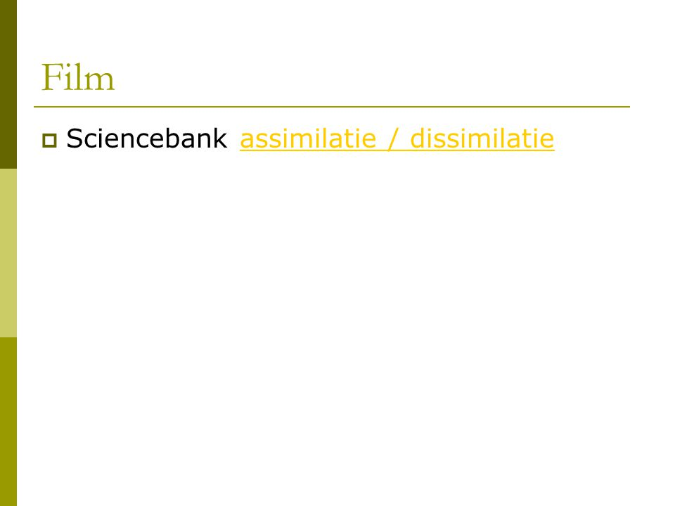 Film Sciencebank assimilatie / dissimilatie