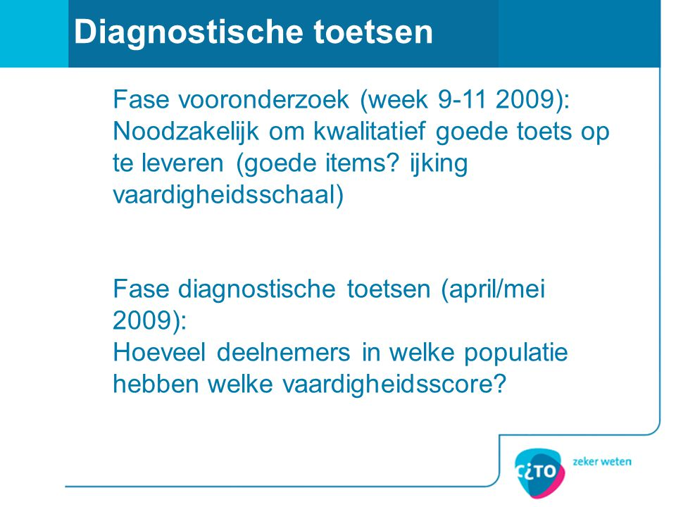 Diagnostische toetsen