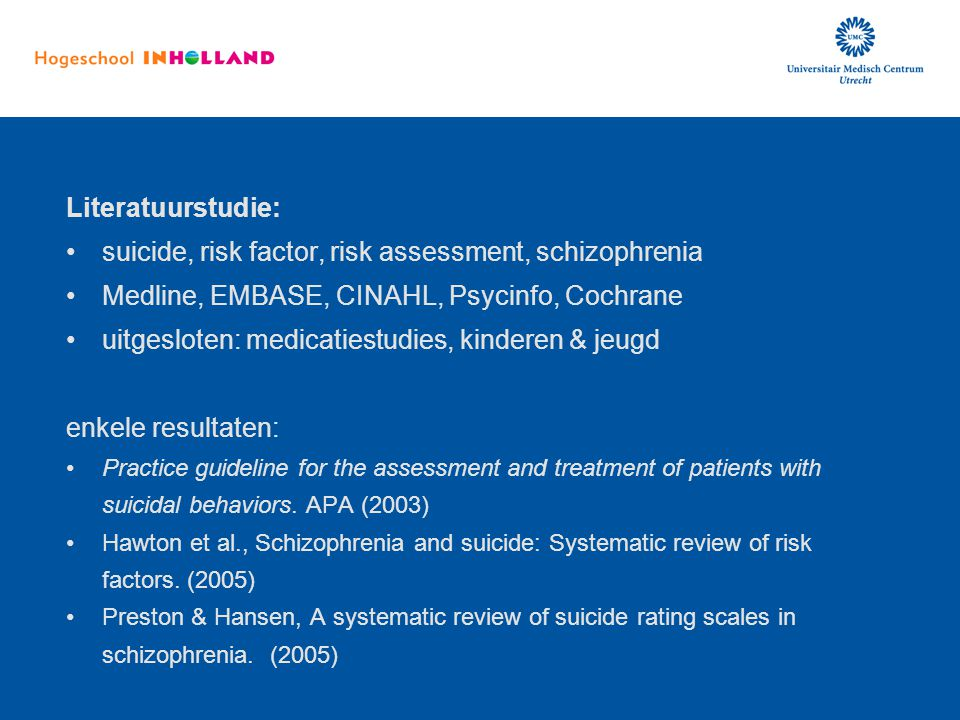 suicide, risk factor, risk assessment, schizophrenia