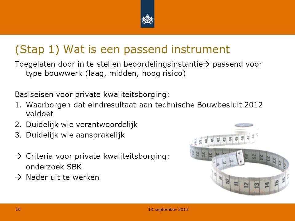 (Stap 1) Wat is een passend instrument