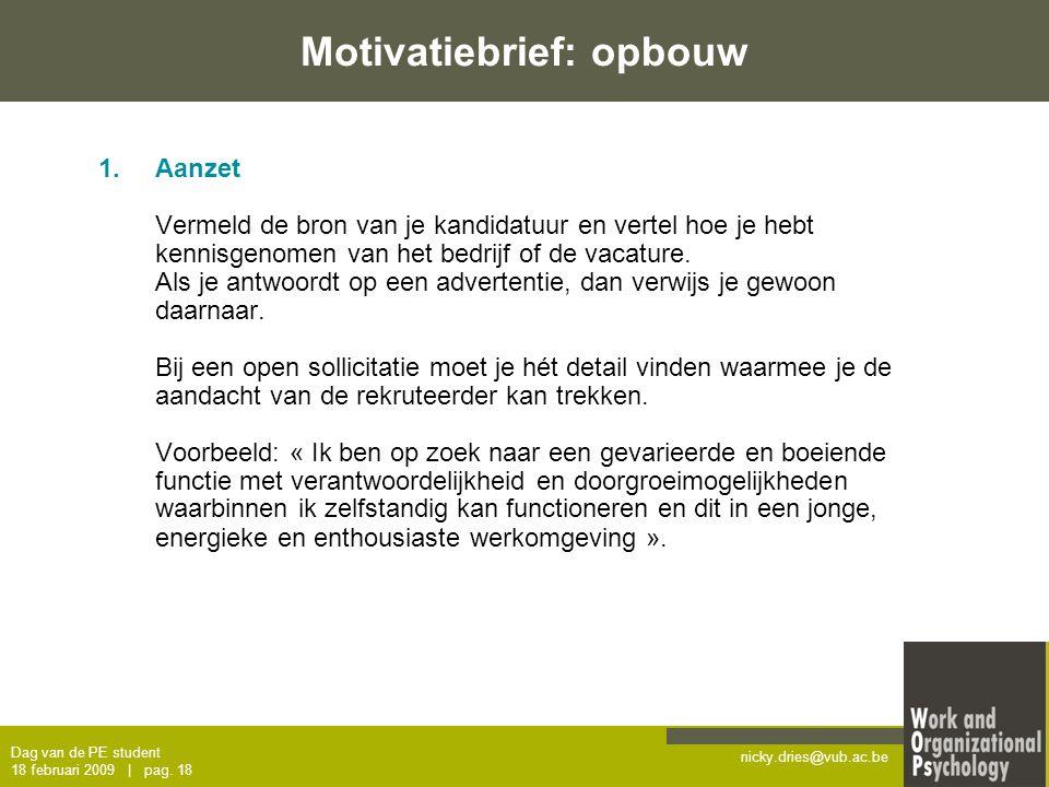 motivatiebrief beurs Sollicitatietraining – dag van de PE student   ppt download motivatiebrief beurs