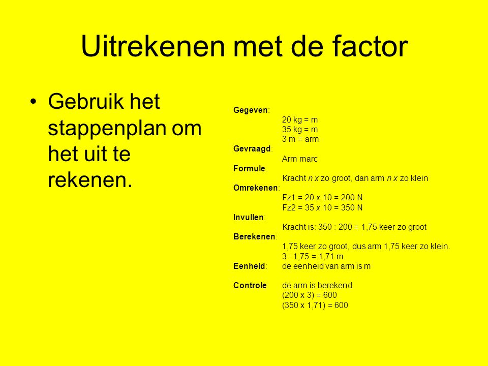 1 4 Werken Met Hefbomen 4t Nask1 H1 Krachten Ppt Video Online