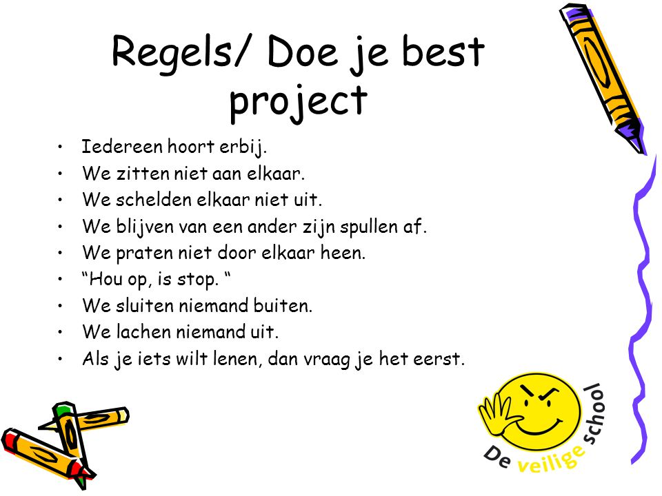 Regels/ Doe je best project