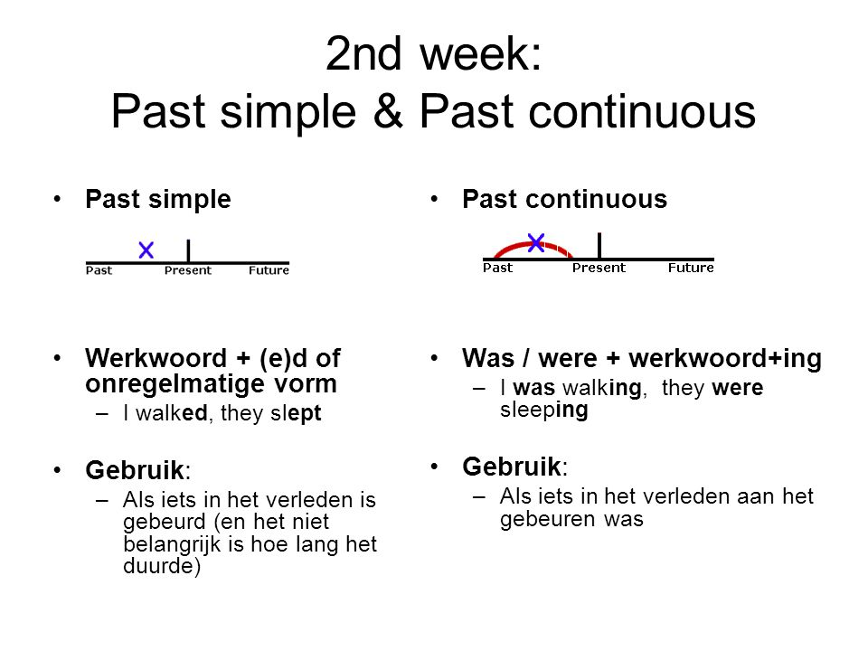 2nd week: Past simple & Past continuous