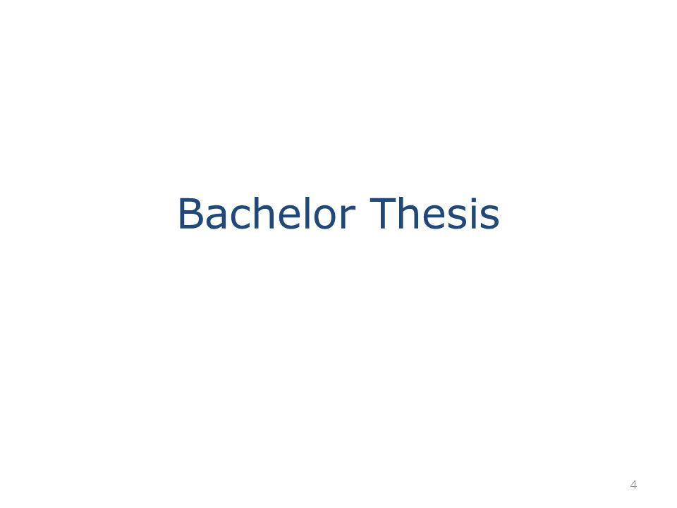 Bachelor thesis sessie - ppt video online download