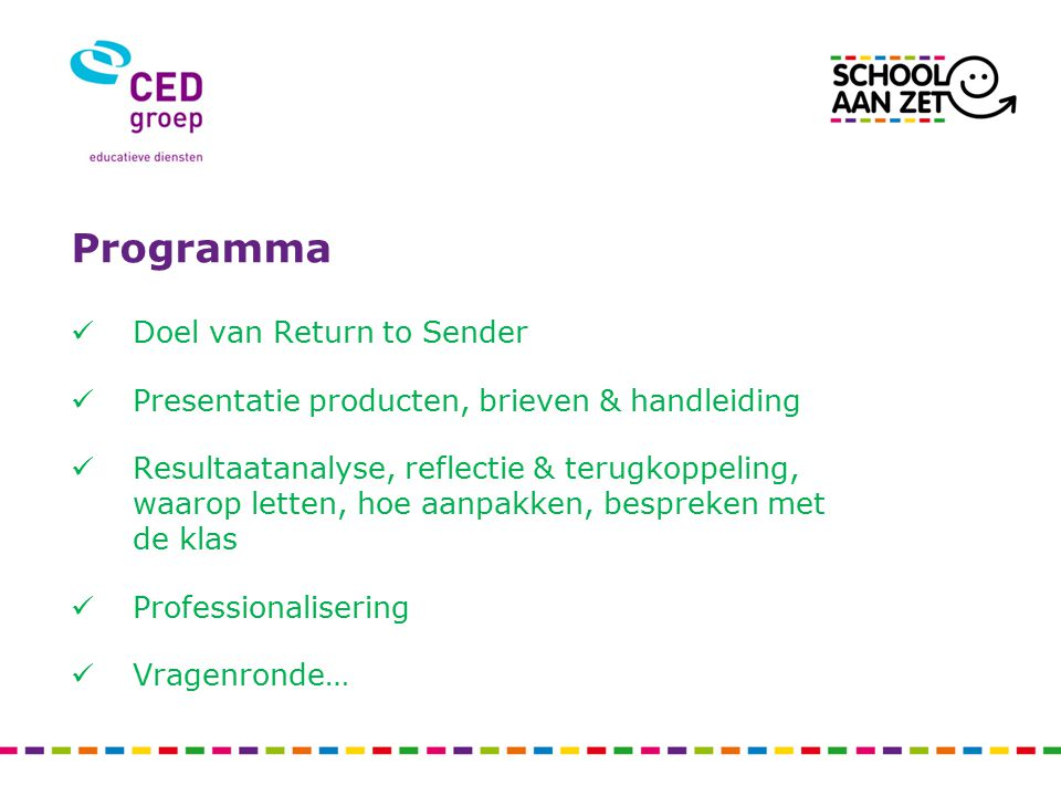 Programma Doel van Return to Sender
