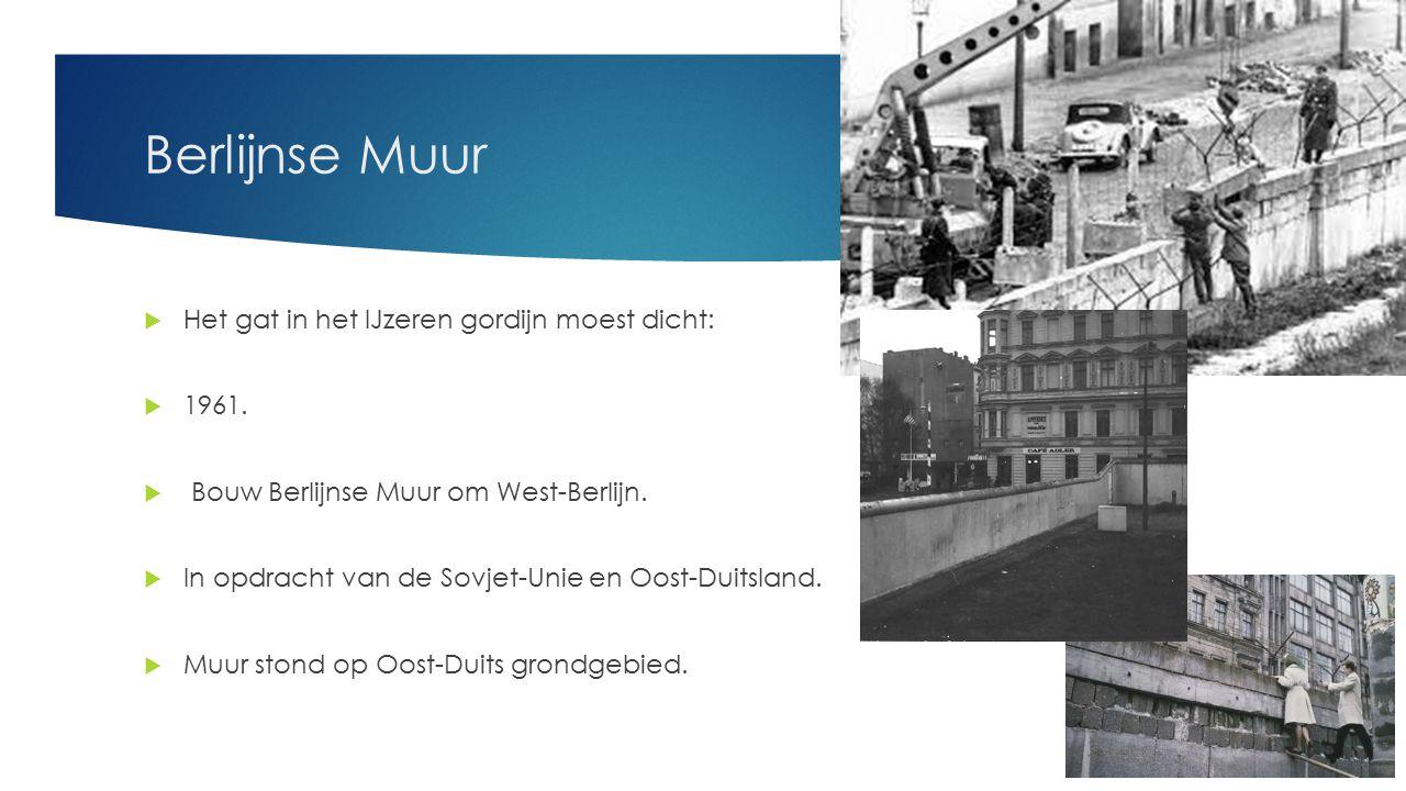 berlijnse muur het gat in het ijzeren gordijn moest dicht 1961