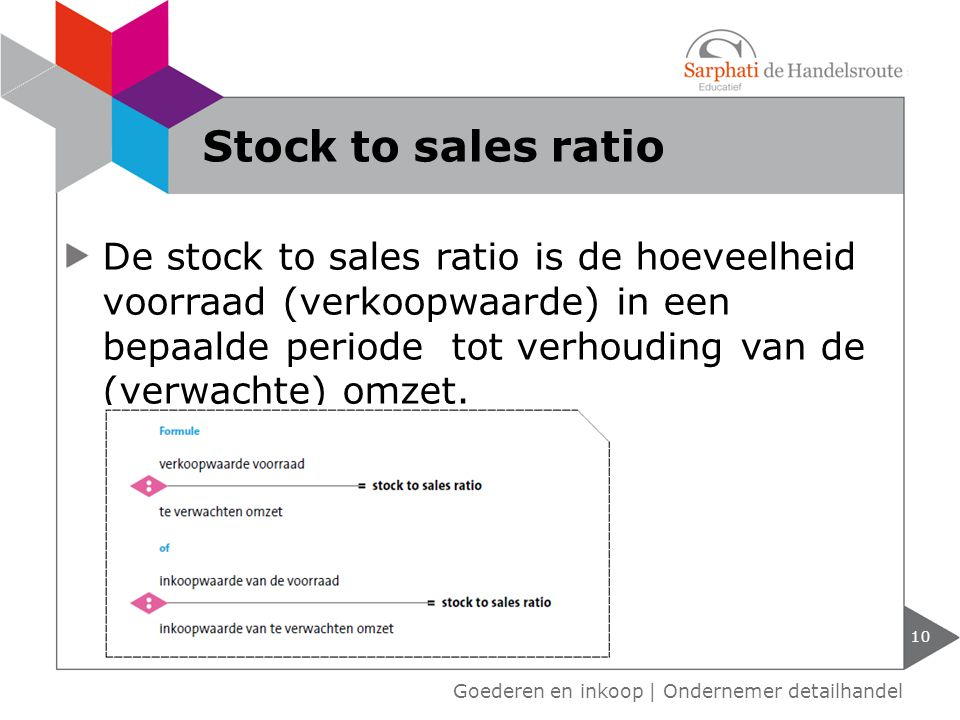 Stock to sales ratio