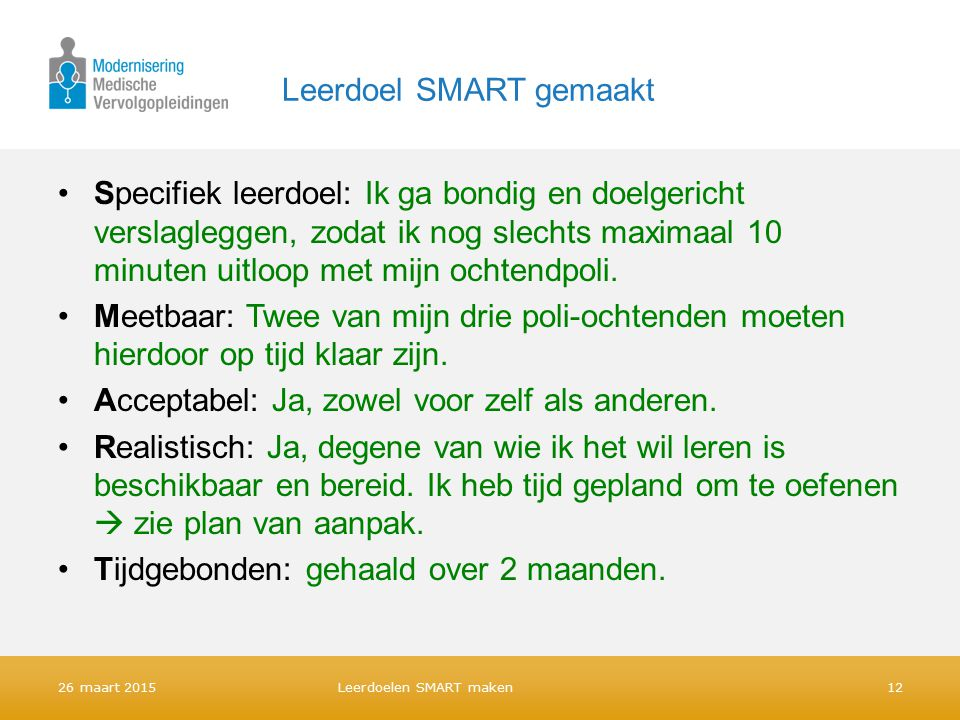 plan van aanpak smart Leerdoelen SMART maken   ppt download plan van aanpak smart