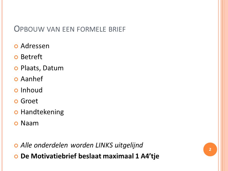sollicitatiebrief handtekening Motivatiebrief Stage Regels en tips.   ppt video online download sollicitatiebrief handtekening