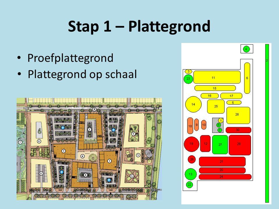 Stap plattegrond plattegrond op schaal with plattegrond op for Huis inrichten op schaal