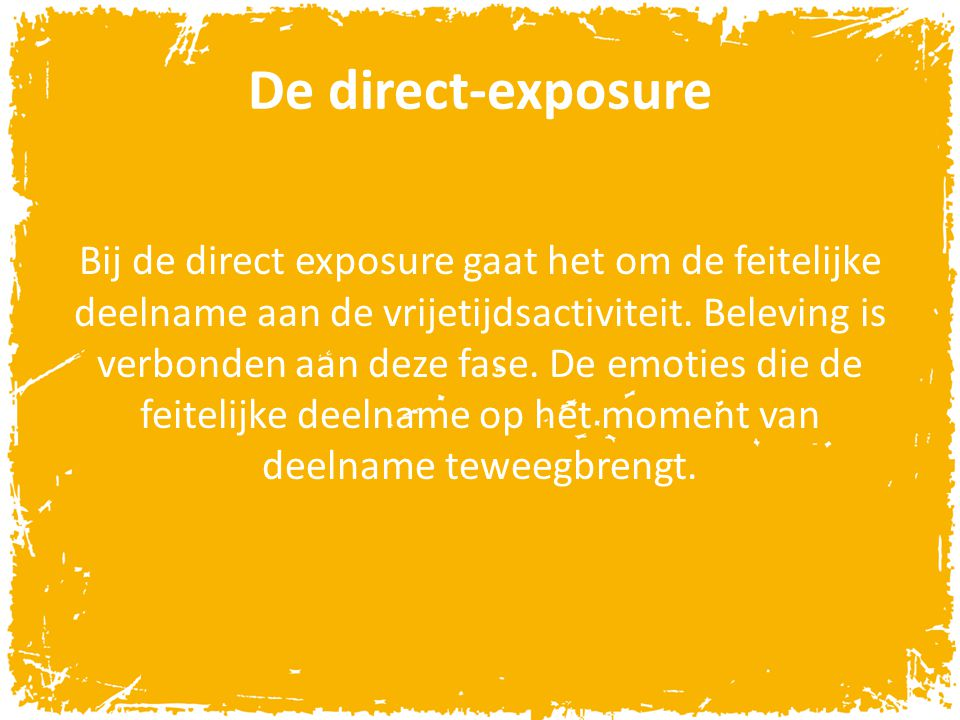 De direct-exposure