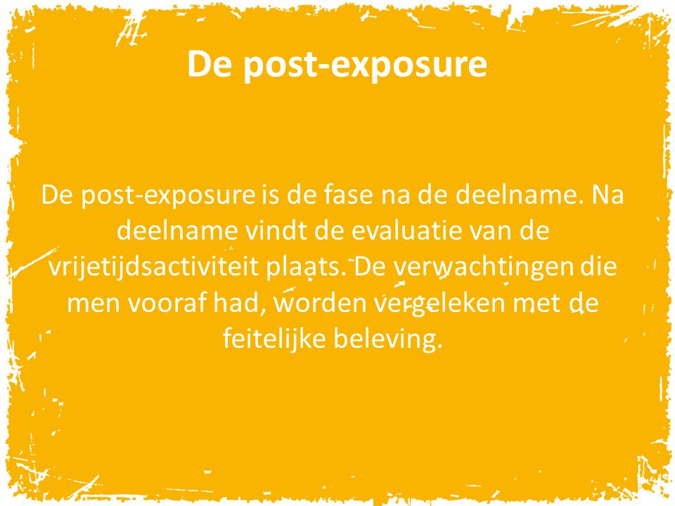 De post-exposure