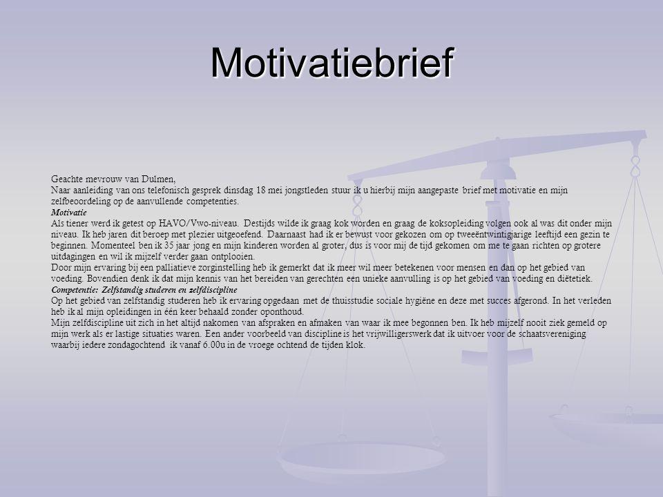 motivatiebrief havo voorbeeld Digitaal Portfolio naam: Pauline Bulk student.nr:   ppt download motivatiebrief havo voorbeeld