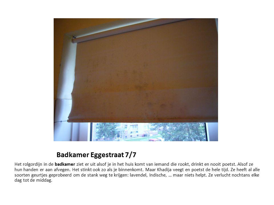 Badkamer Eggestraat 7/7 Het rolgordijn in de badkamer ziet er uit ...