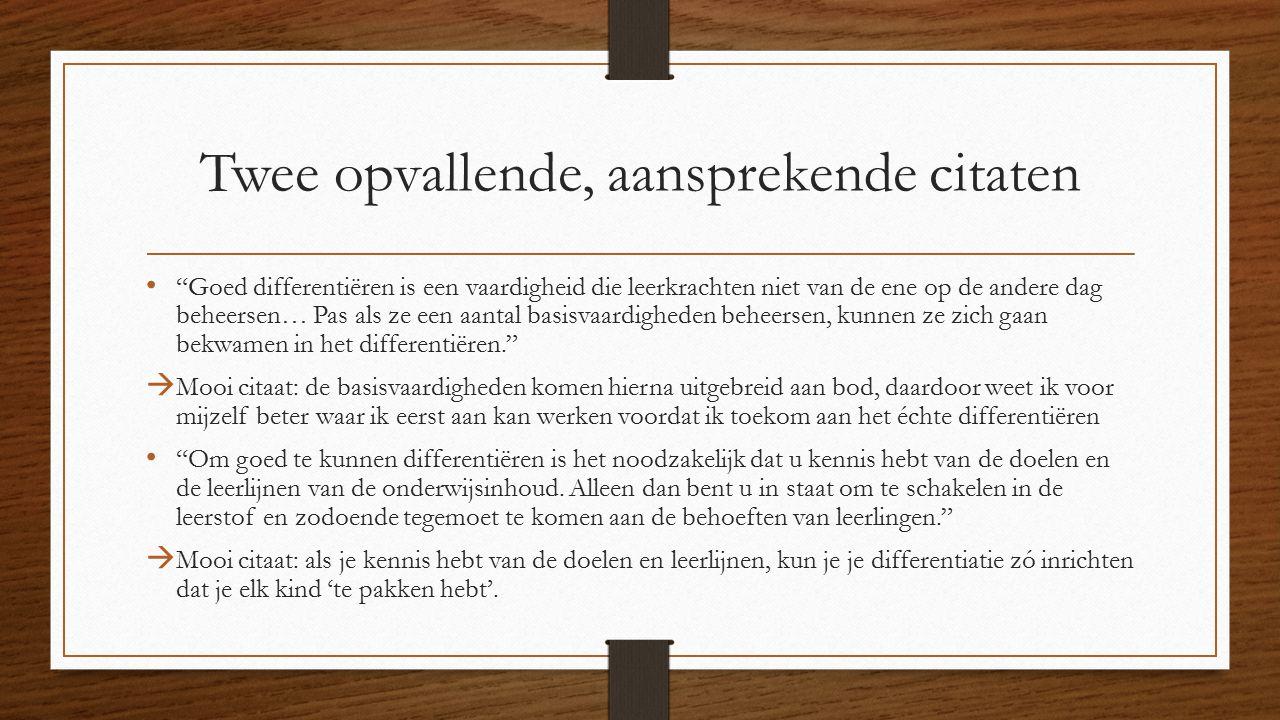Citaten Voor Leerkrachten : Boekbespreking differentiëren is te leren aafke bouwman