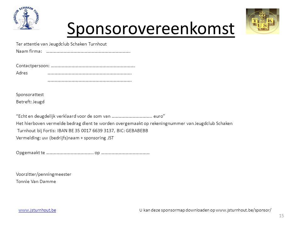eenvoudig sponsorcontract