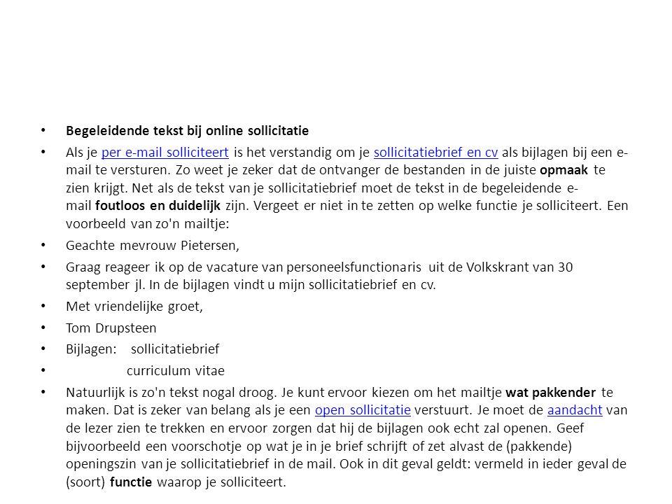 begeleidende tekst sollicitatie Solliciteren! Een vak op zich.   ppt download begeleidende tekst sollicitatie