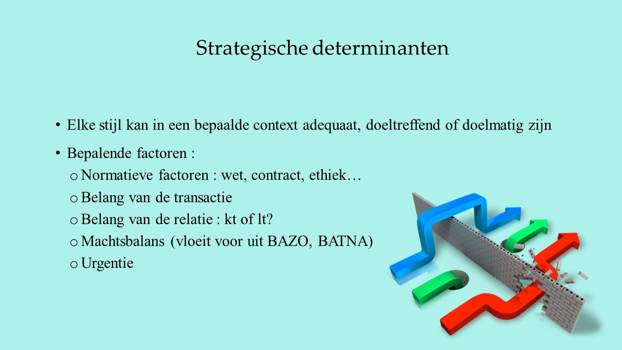 Strategische determinanten