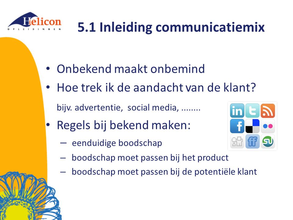 5.1 Inleiding communicatiemix