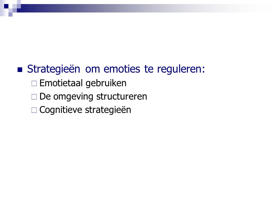 Strategieën om emoties te reguleren: