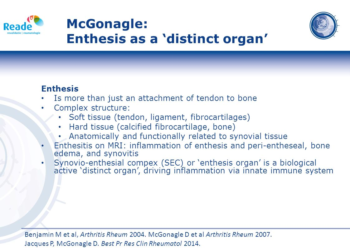 McGonagle: Enthesis as a 'distinct organ'