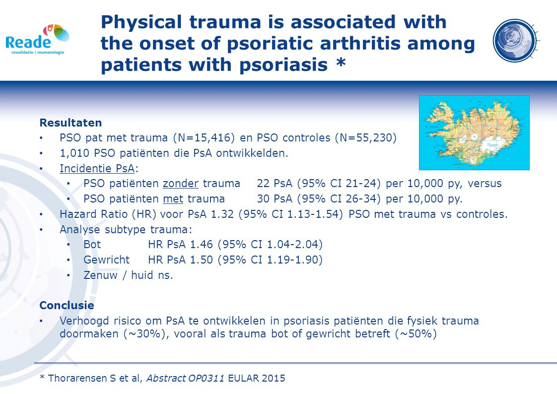 Physical trauma is associated with the onset of psoriatic arthritis among patients with psoriasis *