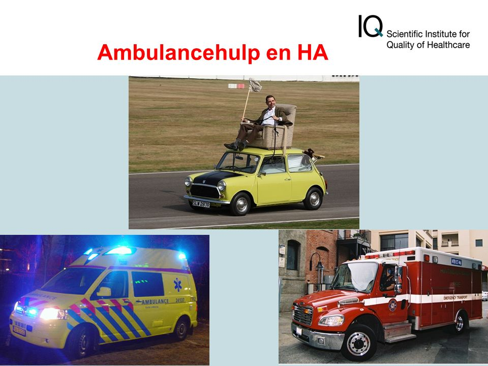 Ambulancehulp en HA
