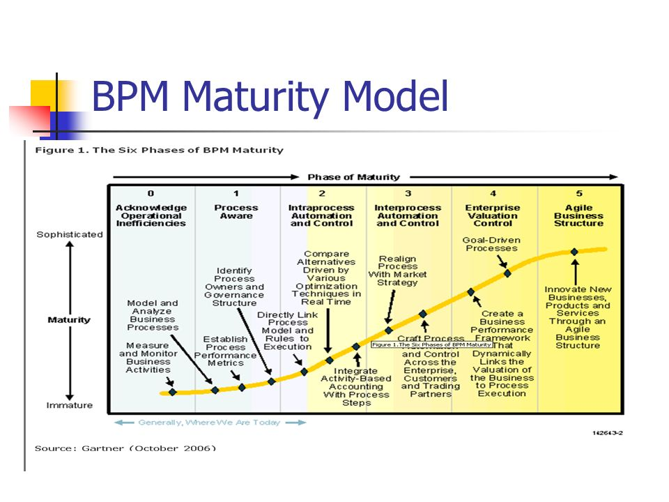 Bpm maturity model gartner