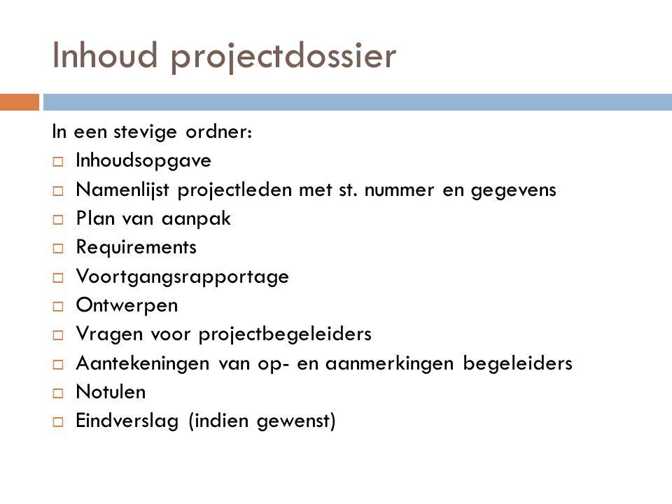 plan van aanpak inhoudsopgave Projectdossier Plan van aanpak   ppt download plan van aanpak inhoudsopgave